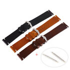 Retro Genuine Calf Leather Wrist Watch Band Strap+Pin Replac