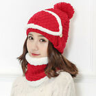 Hot Lady Hat Neck Warmer Mask Soft Cap Mouth Cover Muffler Set Riding Protector