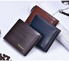 New Men's Leather Credit ID Card Holder Coin Pocket Purse Bifold Wallet U.SA