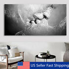 Art - Black & White Love Kiss Abstract Art on Canvas Painting Wall Art Picture Print