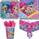 SHIMMER & SHINE PARTY SET TABLE WARE - Birthday Plate Cup Napkins Dispose Paper