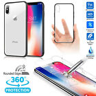 Apple iPhone X Case, Scratch Resistant TEXTURED GRIP Clear Black Bumper Cover