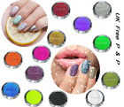 48 Glitter Powder Iredescent Holographic Fluo Nail Cosmetics Crafting Eye Design