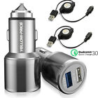 quick charge kit - Samsung Galaxy S7/S7 Edge Fast Car Charger Combo Kit Quick Charge Dual Port 5.4A
