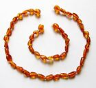 Baltic natural amber necklace or/and bracelet anklet baby to children bean beads