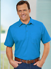 NEW Haband Men Premium Jersey Polo Rugby Knit Top Shirt Cotton Blend