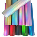 Crafts - Colorful Hologram Mirrored Vinyl Fabric Metallic Holographic Faux Leather Bows