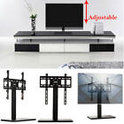 philips flat screen tv base - Height Adjustable Economic LCD Flat Screen TV Table Top Stand Steel Base Shelf