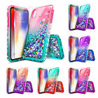 For iPhone 8 Plus 7 Plus X 4 5S 6S Touch 5th 6th Liquid Glitter Bling Case Cover