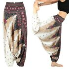 US Women Thai Hippie Boho Harem Wide Leg Pants Belly Dance Yoga Pants Trousers