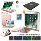 7 Colors Backlit Keyboard Rotating Holder Cover For iPad 5th 9.7 2017/6th Gen 2018