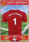 Wales Football Inspired Birthday Cards (2 Designs) - Personalised & Amazing !