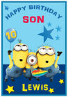 Personalised Minions Inspired Birthday Cards - Lovely !