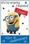 Minions Inspired Anniversary Card - Fun, Personalised & Gorgeous !