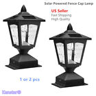 Solar Power Post Cap Light Outdoor Pathway Fence Deck Lamp 4x4 Yard Garden Light