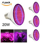 200 LEDs 20W E27 LED Grow Light Bulb Lamp For Garden Plant Hydroponic Bulbs USA