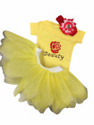 Beauty Princess Tutu Skirt Rhinestone Sparkle Vest Top Fancy Dress Party Girl