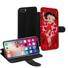 Betty Boop Printed PU Leather Stand Wallet Case for Apple iPhone Models - 0011 $23.34 CAD