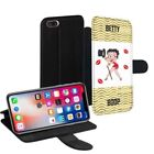 Betty Boop Printed PU Leather Stand Wallet Case for Apple iPhone Models - 0013 $23.63 AUD