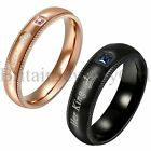 Couple His Queen Her King Crown Rings Stainless Steel Men Women Wedding Band*2PC
