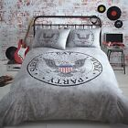 Eleanor James Eagle Quilt Cover Black & Grey Reversible USA Bedding Boys / Mens