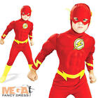 Flash Superhero Boys Muscle Fancy Dress Kids Costume Childrens Child Costume New