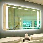 Two-Way Frameless Backlit Wall Mirror Anti-Fog LED Lighted Mirror Hanged 36*28