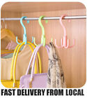Clothing Shoes - SALE 2X Wardrobe Caps Bags Clothes Shoes Hangers 4 Hooks Organizers Holders