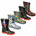 boys boots minion wellington wellies kids spiderman olaf mid calf cartoon winter