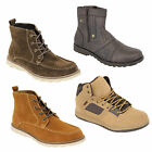 mens boots high ankle top suede look chukka desert shoes lace up casual designer