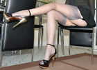 Gio Fully Fashioned Stockings - PEWTER / CUBAN Heel - Imperfects