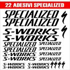 KIT 22 ADESIVI SPECIALIZED S-WORKS BICI STICKERS SPECIALIZED S-WORKS BIKE