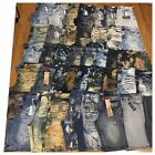 New Big and Tall Mens Size 46 Fashion Denim Shorts Moto Rips Acid Bleached Jeans