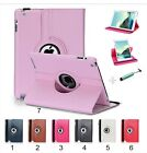 Flip Cover custodia Case cuoio 360° per Apple IPad 1 2 3 4 5 6 mini Pro + vetro