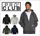 PROCLUB HEAVY WEIGHT FULL ZIP UP HOODED SWEATSHIRT SIZE S - 5XL HOODIES HOODIE