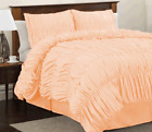 800 TC Egyptian Cotton 5pc Gathered Ruffle Duvet Cover Set In All Size
