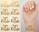 Team Bride Temporary Tattoos Rose Gold Hen Party Wedding Bridesmaids - x8 & x16