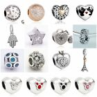 Authentic Solid 925 Sterling Silver Charms T fit European Bead Charm Bracelets