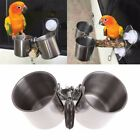 Bird Water Feeder Cups Seeder Feeding Pet Supplies Parrot Cage Accessories Clip