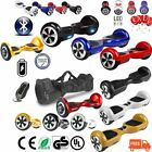 """NUOVO HOVERBOARD LUCI LED SPEAKER E BLUETOOTH SCOOTER OVERBOARD 6,5""""- 8""""-10"""" MI"""