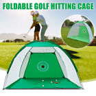 Golf Practice Net Hitting Cage Training Aid Mat Driver Irons +Golf Mat +Free Bag