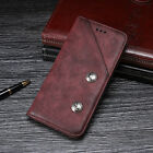 Retro Leather Magnetic Flip Card Wallet Cover Case Pouch For ZTE Various Models