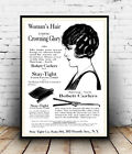 Woman's Hair : Vintage Newspaper Advert , poster, Wall art, poster, reproduction