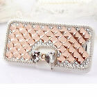 Bling Diamond Rhinestone Bow Wallet Leather Stand Case Cover For BLU phones
