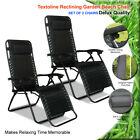 TEXTOLINE RECLINING ZERO GRAVITY GARDEN SUN LOUNGER TABLE CHAIR CUP HOLDER TRAY