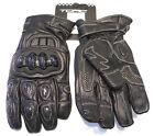TORC Pico Carbon Molded Armor Reinforced Super Soft Leather Motorcycle Gloves