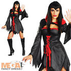 Countess Vampira Ladies Halloween Fancy Dress Adults Vampiress Costume Outfit