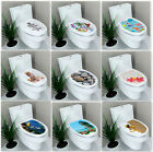 Uk Stock Toilet Seat Wall Sticker Bathroom Decoration Decal Vinyl Mural Decor