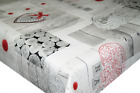 Mother Nature Grey PVC Tablecloth Vinyl Oilcloth Kitchen Dining Table