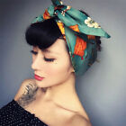 Womens Retro Rockabilly Style Knot Pattern Headband Head Wrap Scarf Hair Band